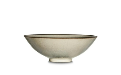 Chinese Ding-Style Bowl with Incised Flowers, Ming