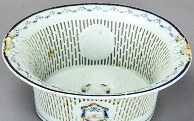 Chinese Export Reticulated Porcelain Bowl