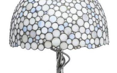 Collet, lampe de table en argent