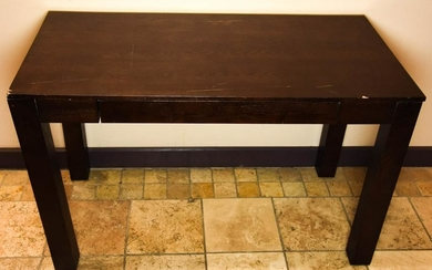 Contemporary Dark Wood Parsons Style Console Table