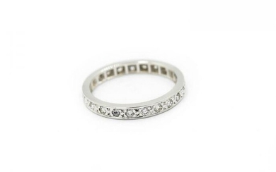 Contemporary White Gold and Diamond Eternity Ring