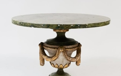 Continental Painted and Parcel-Gilt Center Table