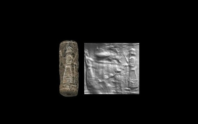 Cylinder Seal with Figures and Offering Table