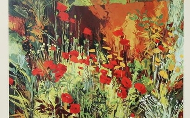 Douglas Atwill, Poppies with Achilles II, Poster