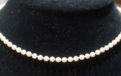ELEGANT 14k White Gold & Cultured Pearl Necklace!