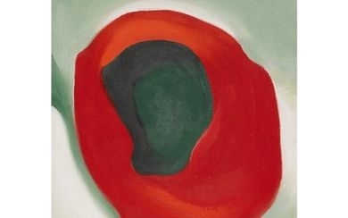 GEORGIA O'KEEFFE | UNTITLED (ALLIGATOR PEAR IN RED DISH)
