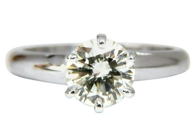 GIA Certified 1.01 Carat Round Cut Diamond Solitaire