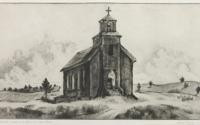 Gene Kloss (American, 1903-1996) Forsakew Church on the