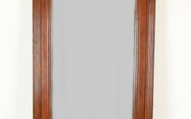 German walnut mirror with console and Snekken. Circa