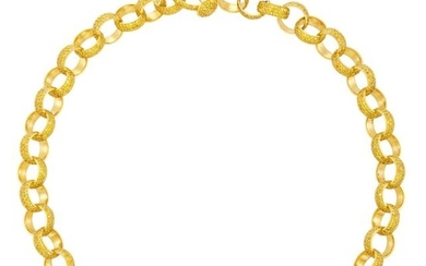 Gold and Yellow Diamond Circle Link Necklace, by Jacob & Co.
