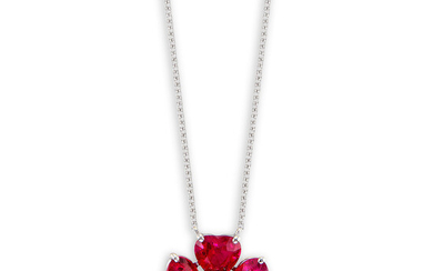 Graff, A Ruby and Diamond 'Flower' Pendant Necklace, Graff