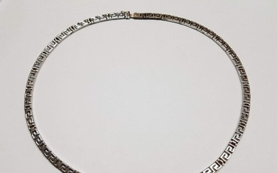 Greek Shape Silver Necklace, Total Weight 43,5gr (55cm)