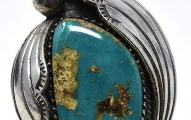 Hand Made Signed Sterling & Turquoise Ring