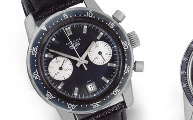 Heuer. A stainless steel manual wind calendar chronograph wristwatch