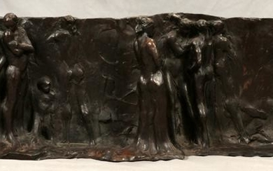 "JOHN PAPPAS BRONZE SCULPTURE, ""THE AMERICANS"""