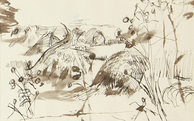 Keith Vaughan, British 1912-1977- Neo-Romantic Landscape, from...