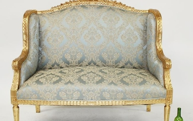 Louis XV style upholstered settee
