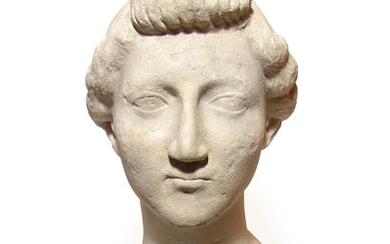 Lovely Roman marble head of a woman, Julio-Claudian