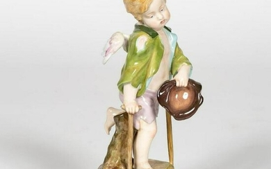 Meissen Porcelain Figure Of A Cherub As A Begger