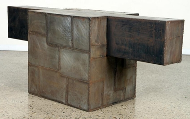 PAUL EVANS STYLE IRON CONSOLE TABLE