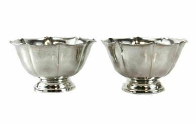 Pair of Irish Sterling Silver Candy or Nut Bowls