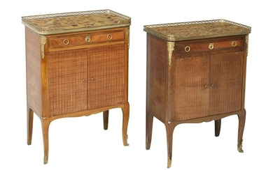 Pair of Louis XV/XVI-Style Kingwood Cabinets