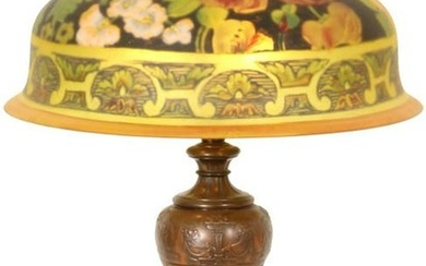 """Pairpoint """"Berkeley"""" Floral Table Lamp"""