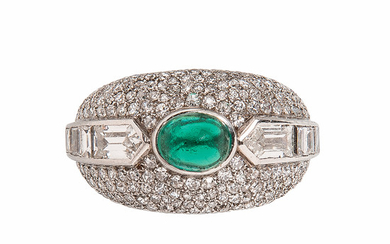 Platinum, Emerald, and Diamond Ring, Ghiso