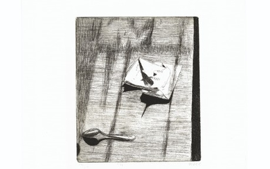 RICHARD DIEBENKORN (1922-1993), #11 (opened letter on a table), from 41 Etchings Drypoints