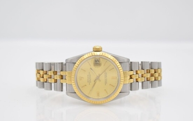 ROLEX Oyster Perpetual Datejust medium wristwatch, Switzerland...