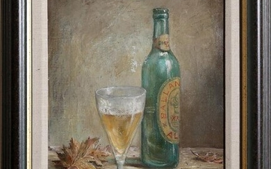 Ricardo Magni, Still Life with Beer, Oil Painting