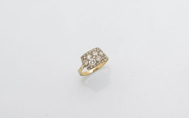 Ring in 18 karat yellow and white gold (750 thousandths)...