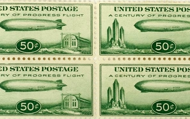 SCOTT GRAF ZEPPELIN AIRSHIP CHICAGO EXPO. STAMPS