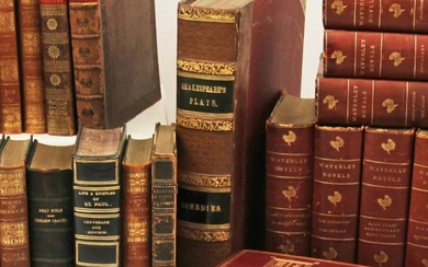 SHAKESPEARE'S PLAYS AND OTHER ANTIQUE L/B BOOKS