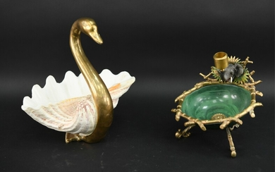 SWAN AND ELEPHANT BOWL