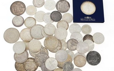 Set of silver coins