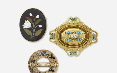 Three victorian brooches