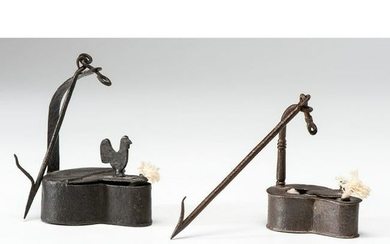 Two Iron Betty Lamps
