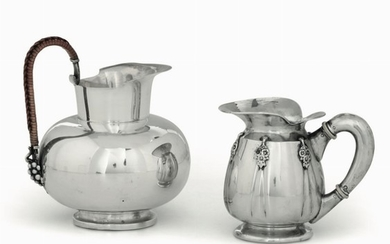 Two pitchers, Ricci&C, Alessandria, 1900s