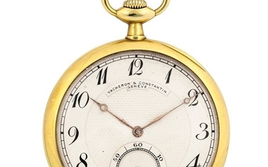 VACHERON & CONSTANTIN - Elegant yellow gold pocket watch.