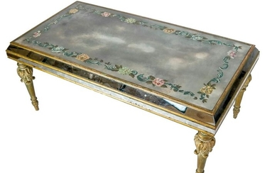 Venetian-Style Mirrored Coffee Table
