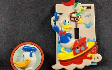 Vintage Disney Donald Duck Outlet Cover And Light
