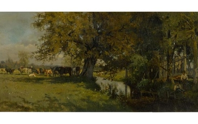 WILLIAM STARBUCK MACY | LANDSCAPE WITH COWS