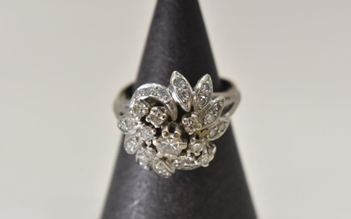 14 kt. White gold - Ring Diamond - Diamond