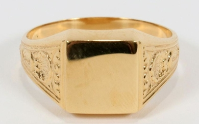 16KT YELLOW GOLD VINTAGE SIGNET RING