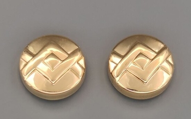 18 kt. White gold, Yellow gold - Button Cover
