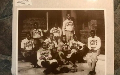 1880's Tuskegee Institute Baseball Team Sepia Tone