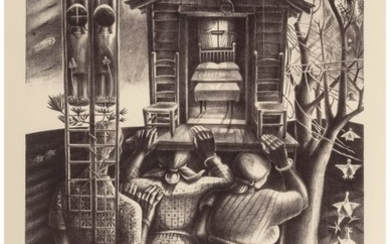 76039: John Biggers (American, 1924-2001) Upper Room, 1