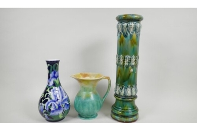 A Benaya by Inspirations pottery vase in the Moorcroft style...