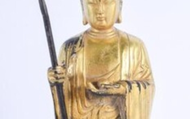 A CHINESE BRONZE FIGURE OF LUOHAN 20th Century. 2